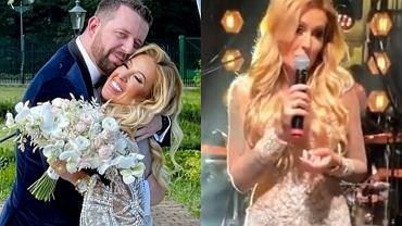 """Sylwia Peretti z """"Królowych życia"""" wyszła za mąż. Suknia ślubna bajeczna, a tort kilkupiętrowy. Luksusowo!"""