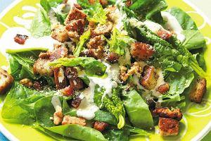 Zielone warzywa, sałaty, zioła... Obiad na zielono
