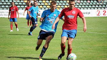 Arkadiusz Jasitczak z Błękitnych w meczu z Calisią