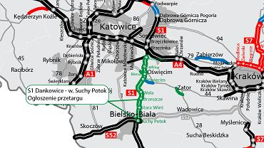Mapa trasy S1