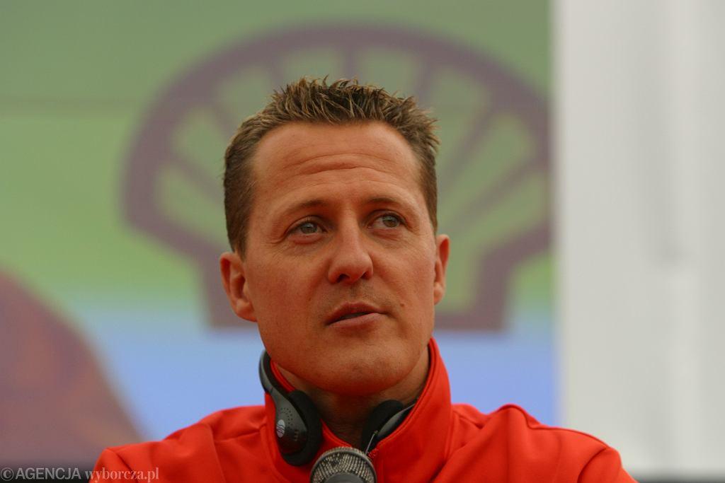 Michael Schumacher w Poznaniu w 2007 r.