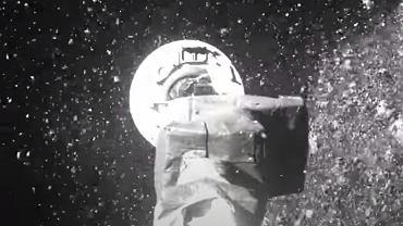 NASA publikuje nagranie z misji OSIRIS-REx. Zetknięcie z asteroidą Bennu trwało zaledwie 6 sekund