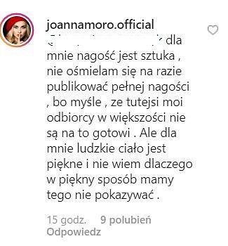 Komentarz Joanny Moro