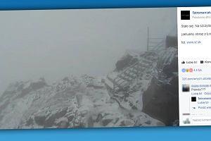 """Lato w pełni, a w Tatrach spadł... śnieg! """"Czuć aż w Krakowie"""" [FOTO]"""
