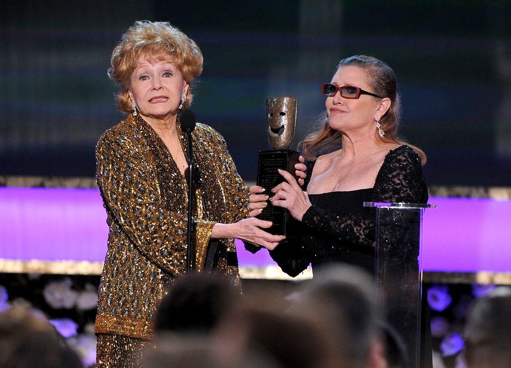 Debbie Reynolds i Carrie Fisher w 2015 roku
