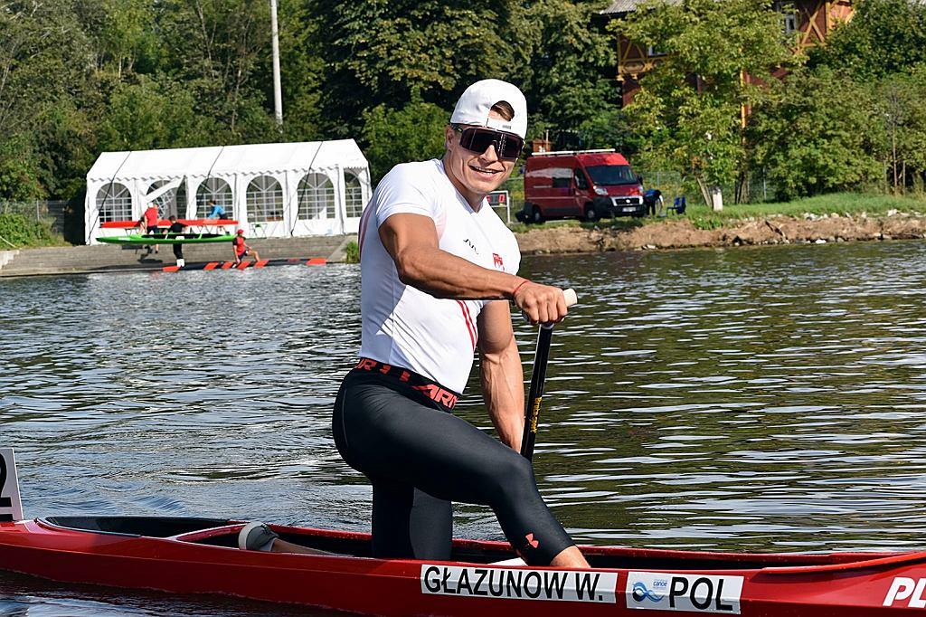 Sierpień 2021 r. Lotto 84. mistrzostwa Polski seniorów w kajakarstwie klasycznym w Bydgoszczy. Wiktor Głazunow (AZS AWF Gorzów)