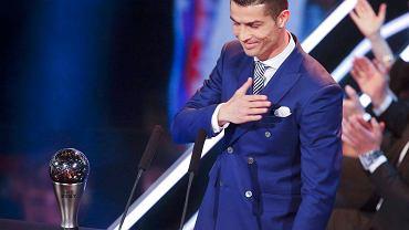 Cristiano Ronaldo odebrał nagrodę dla najlepszego piłkarza 2016 roku