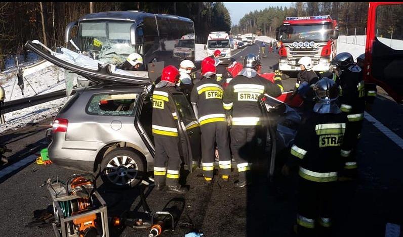 Tragiczny wypadek na trasie Olsztyn-Dobre Miasto