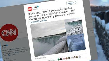 Wodospad Niagara znów zamarzł