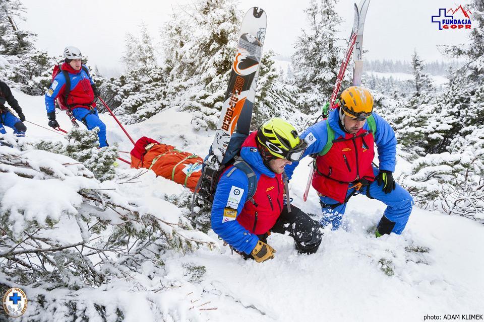 Akcja ratunkowa GOPR - zdjęcie ilustracyjne