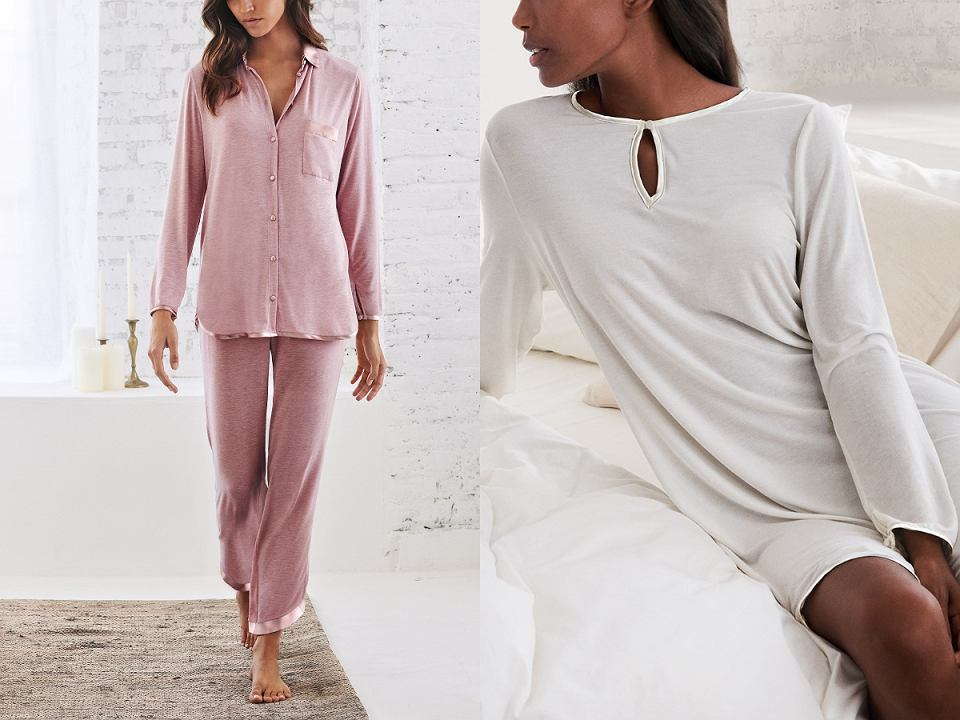 Piżama i koszula nocna z kolekcji Modal&Jedwab