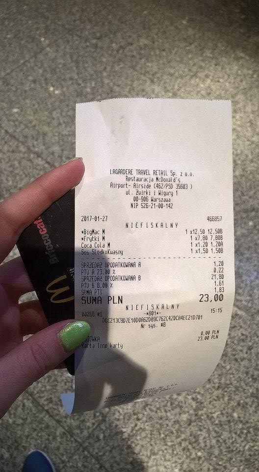Ceny na Lotnisku Chopina