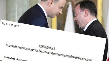 Prezydent Andrzej Duda z Mariuszem Kamińskim