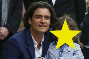 Orlando Bloom z synem Flynnem