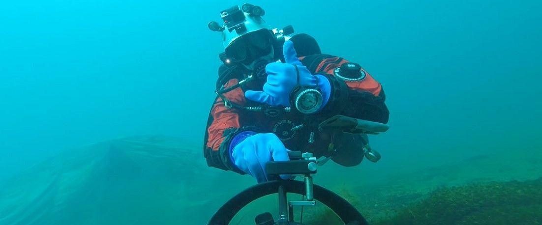 Marcel w trakcie nurkowania (fot. archiwum prywatne)