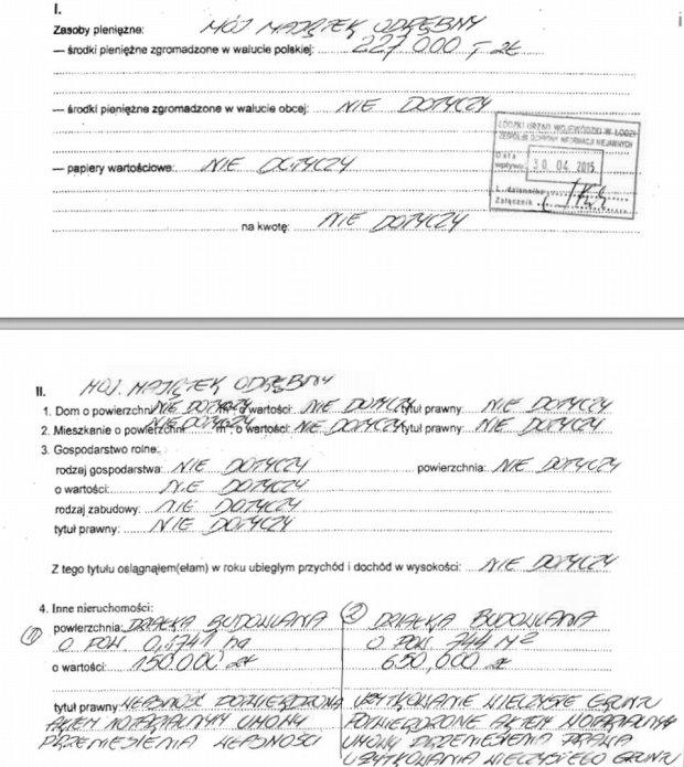 Oświadczenie majątkowe prezydent Łodzi, Hanny Zdanowskiej