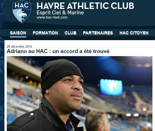 Adriano w Le Havre?