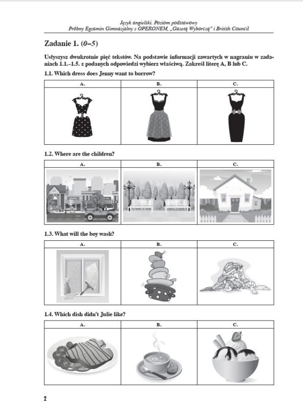 Próbny egzamin gimnazjalny z języka angielskiego