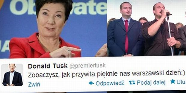 Wpis na Twitterze premiera Tuska