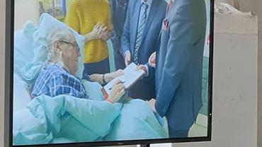 Nagranie Milosza Zemana w szpitalu