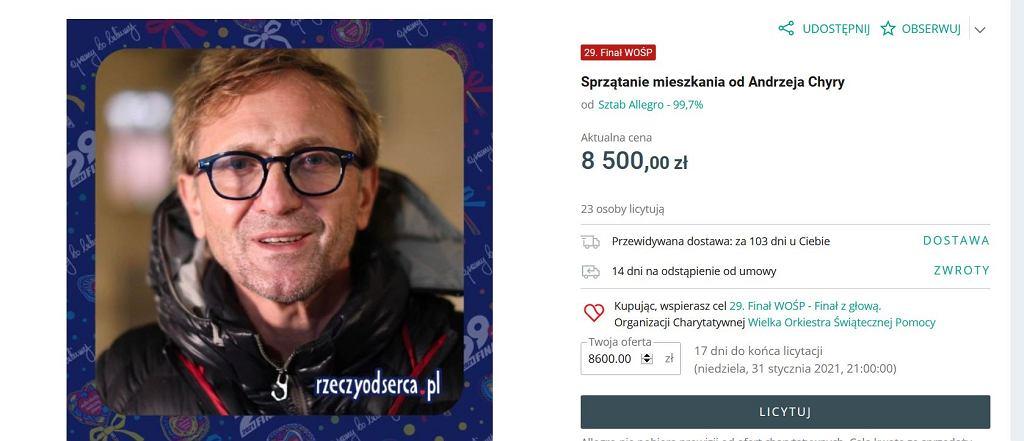 Andrzej Chyra wsparł WOŚP