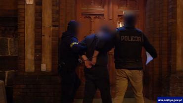 Zatrzymanie podejrzanego o napad na kantor w Olsztynie
