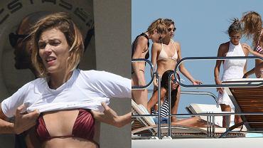 Anja Rubik wypoczywa we francuskim Saint-Tropez. Paparazzi zrobili jej zdjęcia podczas zabawy na jachcie. Towarzyszyły jej modelki Victoria Secret, takiej jak Alessandra Ambrosio, Elsa Holsk czy Dozen Kroes.