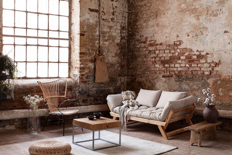 Stal, drewno, cegła, beton to aranżacyjna podstawa nowojorskich loftów