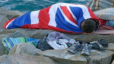 Migrant na granicy Francji i Włoch