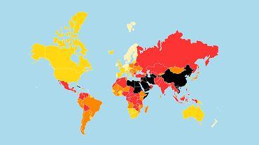 Lestvica svobode tiska po mnenju novinarjev brez meja