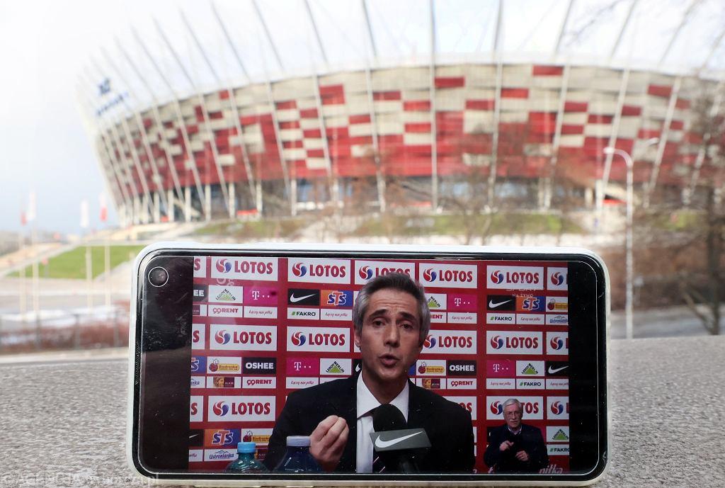 Konferencja nowego selekcjonera piłkarskiej reprezentacji Polski Paulo Sousy
