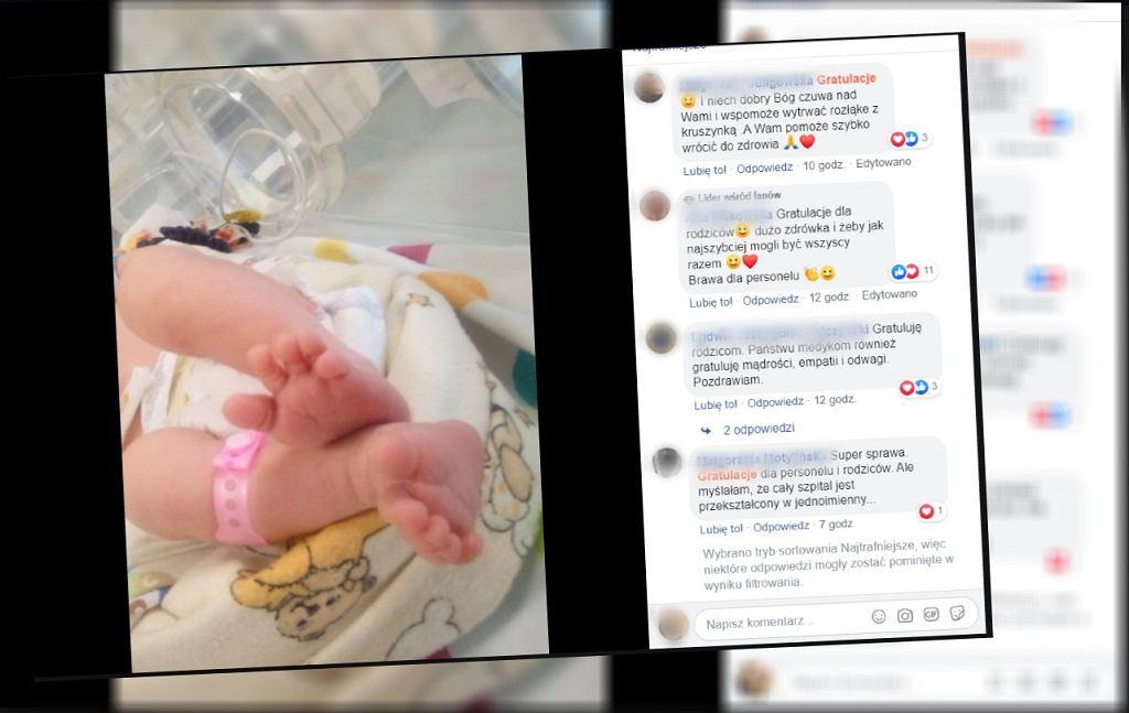 Kobieta zakażona koronawirusem urodziła zdrowe dziecko