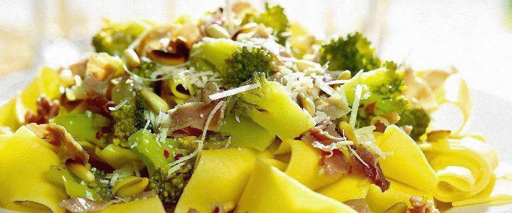 Wstążki z brokułami