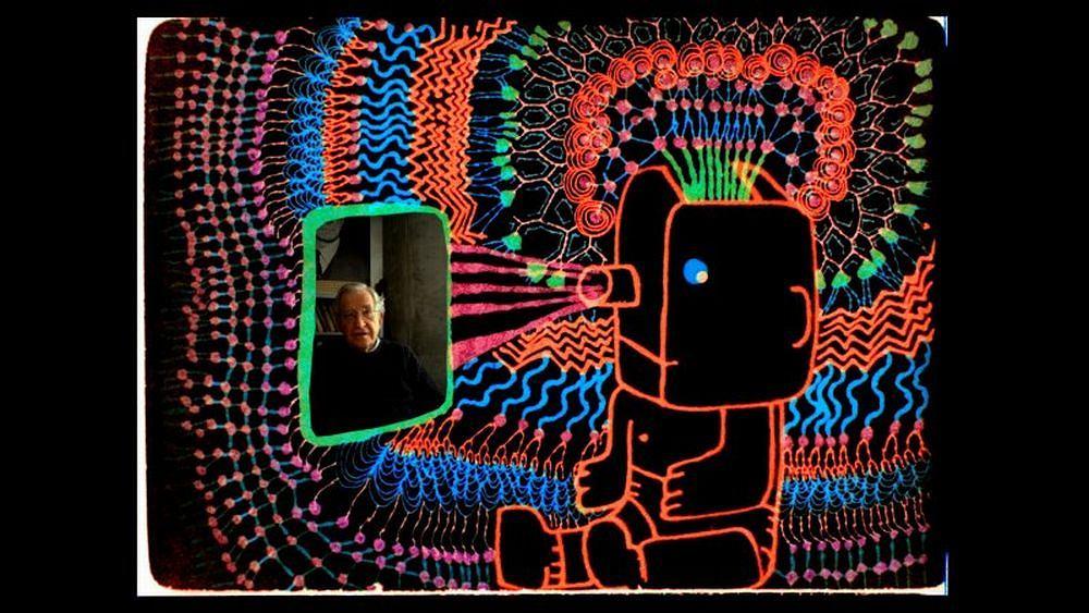 Kadr z filmu 'Czy Noam Chomsky jest wysoki czy szczęśliwy?' (Is the Man Who Is Tall Happy?) w reż. Michela Gondry'ego, Francja, 2013
