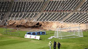 Niewybuchy znalezione podczas robót na stadionie Pogoni