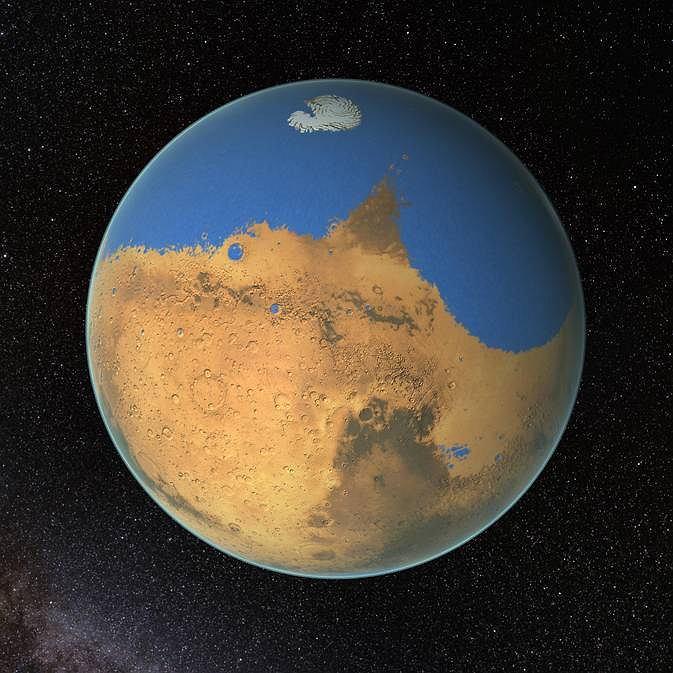 Zdjęcie numer 1 w galerii - Czerwona Planeta miliardy lat temu była błękitna