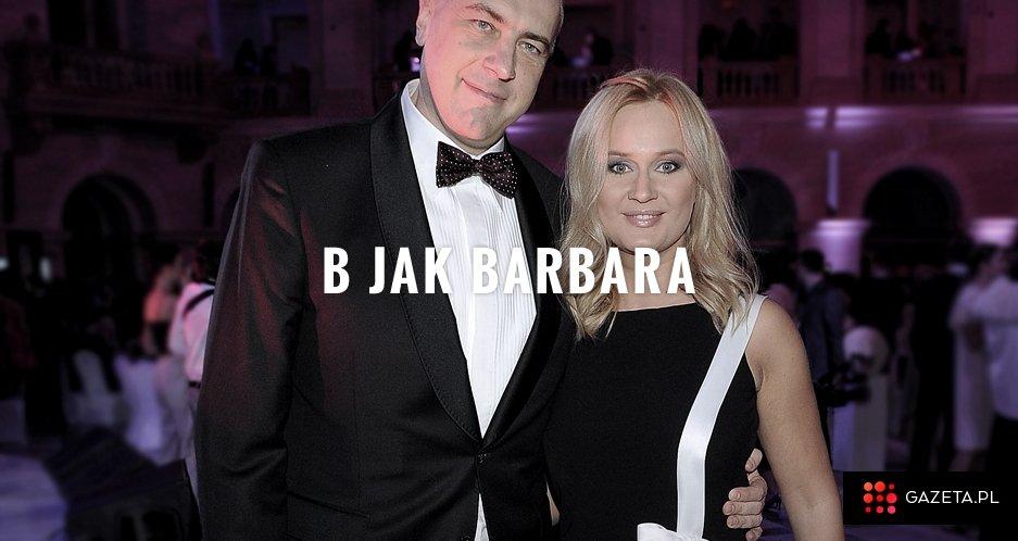 Roman Giertych z żoną Barbarą