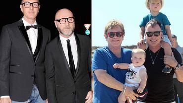 Dolce i Gabbana, Elton John z mężem i synami