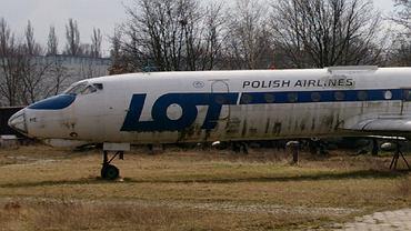 Tu-134A w barwach LOT-u w muzeum w Łodzi
