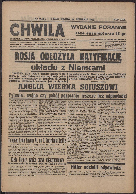 Do ostatniej chwili wierzyły, że wojna nie wybuchnie. Gdy już się zaczęła, donosiły o zwycięstwach Polski i rychłej klęsce Hitlera. Do końca wierzyły w pomoc Anglii i Francji. Oto pierwsze strony gazet z gorących dni września 1939 r. ze zbiorów Cyfrowej Biblioteki Narodowej