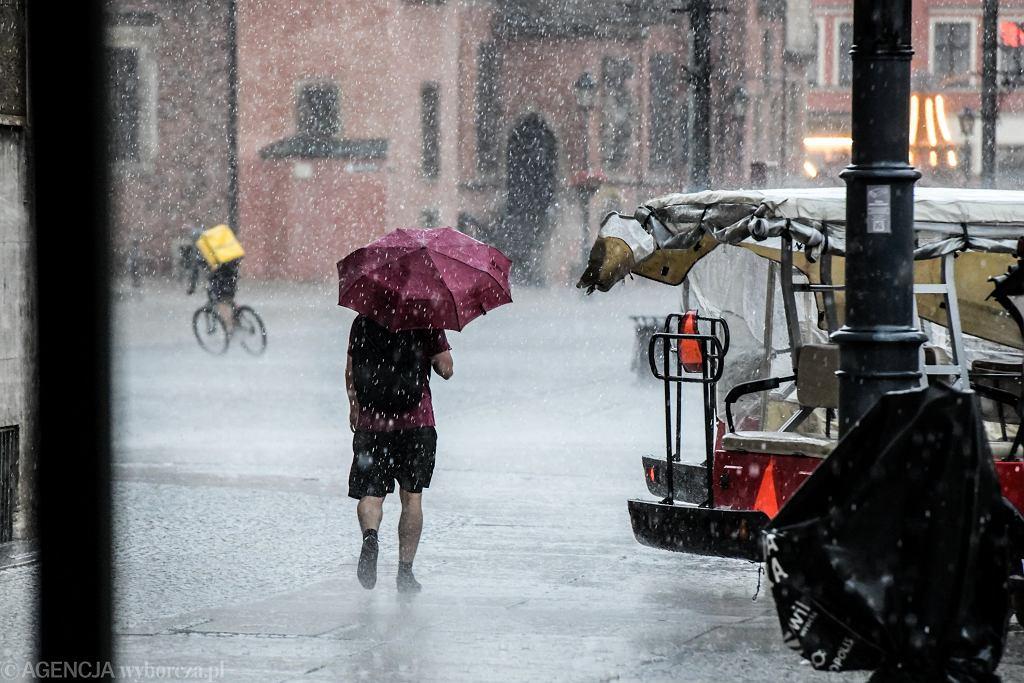 Wrocław w deszczu
