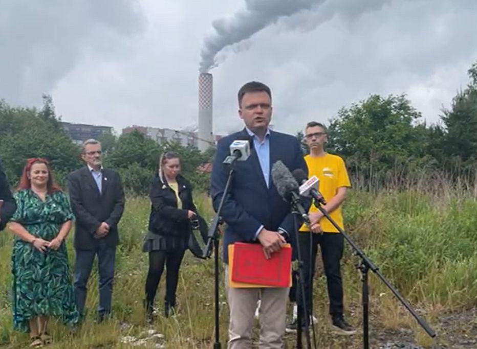 Szymon Hołownia, lider Polski 2050, przedstawił swoje pomysł na zakończenie polsko-czeskiego konfliktu wokół kopalni Turów