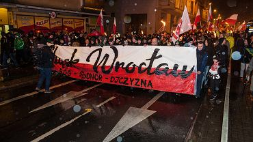 Marsz Patriotów w Święto Niepodległości. 11.11.2017 r. Wrocław