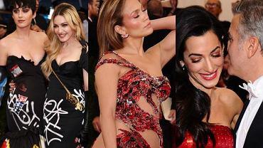 """Największa impreza modowa świata za nami. W poniedziałkową noc w Metropolitan Museum of Art odbyła się Gala Met, nazywana również """"modowymi Oscarami"""". Bal organizowany przez naczelną amerykańskiej edycji """"Vogue'a"""" przyciąga co roku największe nazwiska nie tylko branży odzieżowej, lecz również show-biznesu. W tym roku imprezę obecnością uświetniły najpopularniejsze nazwiska popkultury: Madonna, Beyonce, Kim Kardashian czy Rihanna. Ich kreacje wcześniej zatwierdzić musiała sama Anna Wintour. Jej wybory często są jednak kontrowersyjne. Zobaczcie, co miały na sobie gwiazdy."""