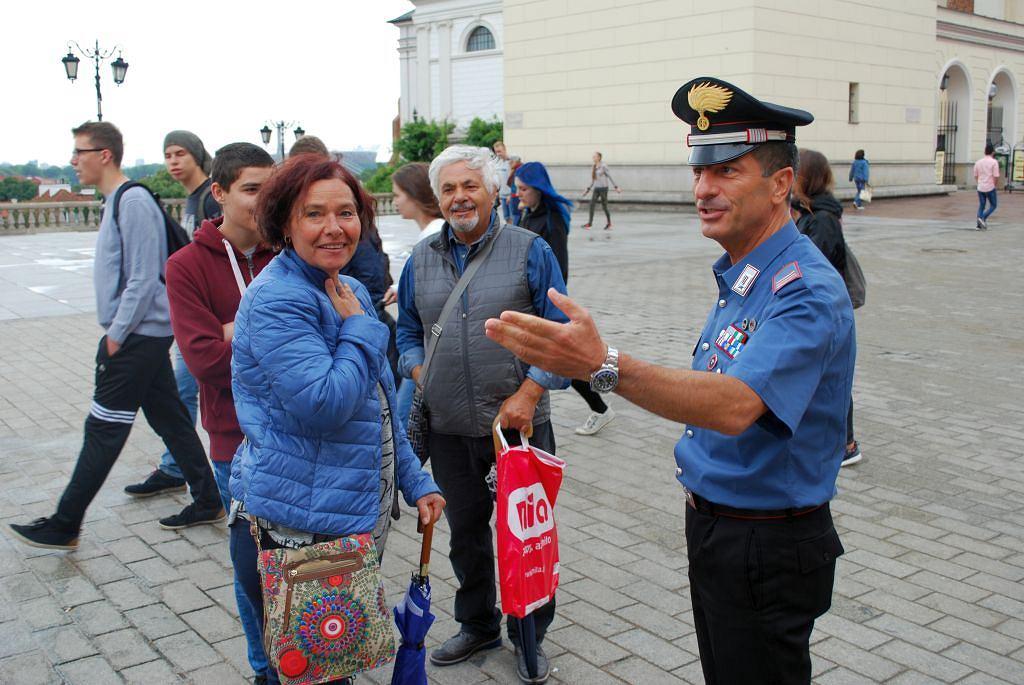 Wspólny patrol włoskich i polskich policjantów
