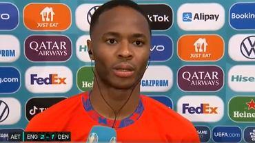 Raheem Sterling po meczu Anglia - Dania w półfinale Euro 2020