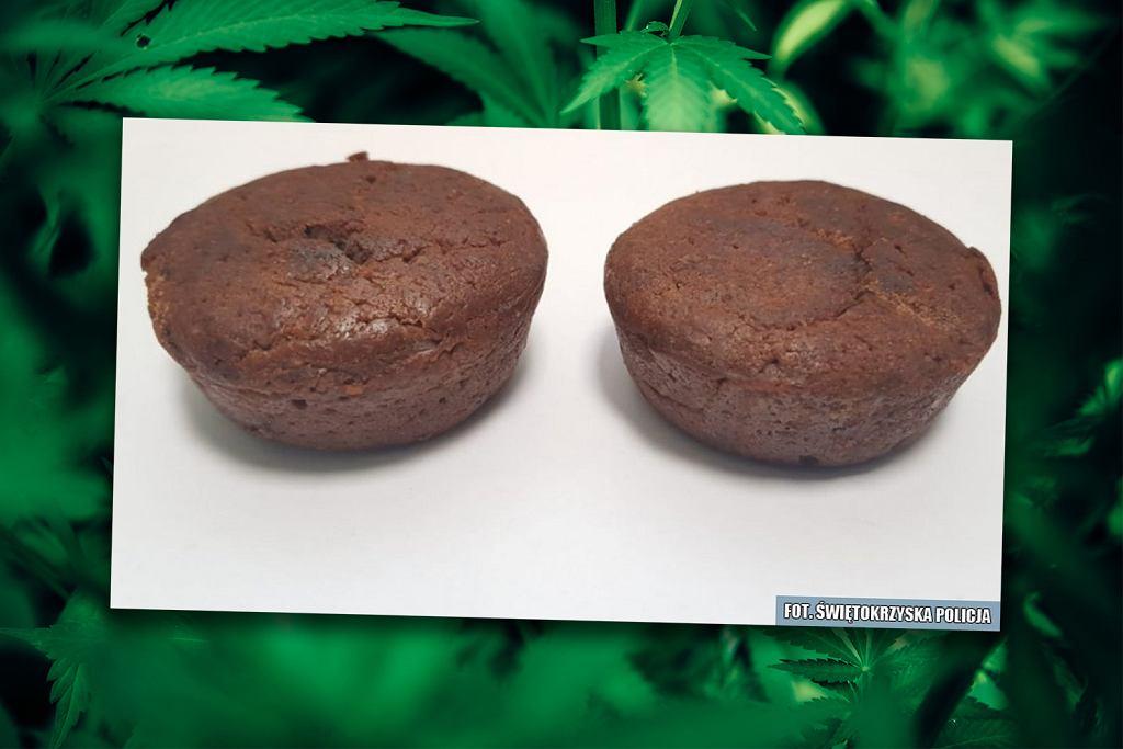 Babeczki z marihuaną zabezpieczone przez policję