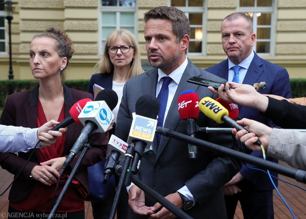 Prezydent Warszawy Rafał Trzaskowski powołał komisję ds. wyjaśnienia awarii kolektora Czajki