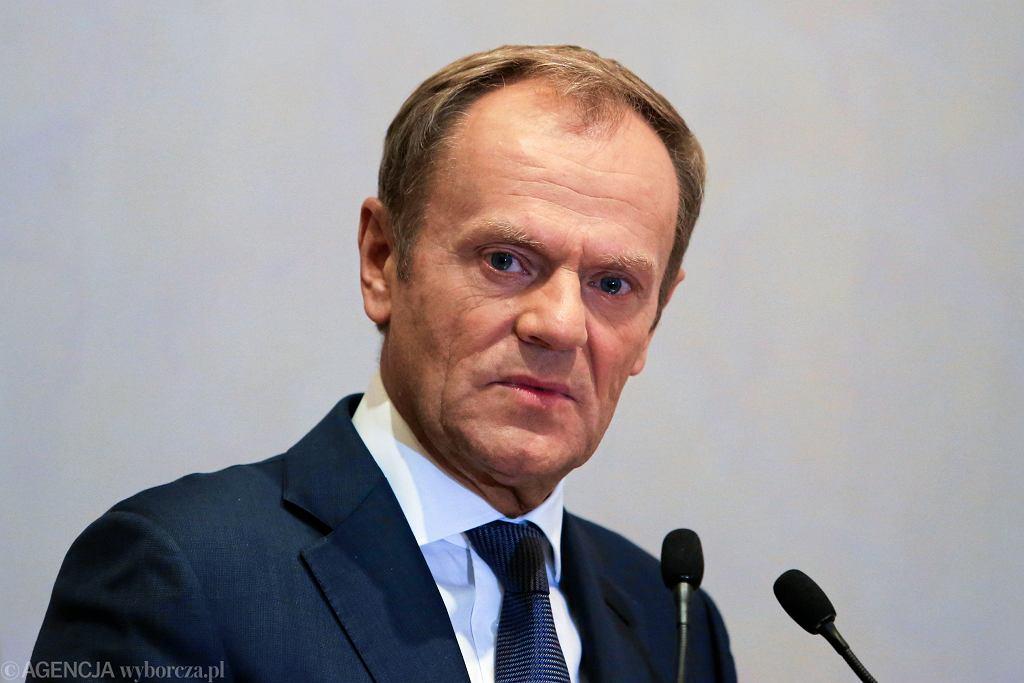 06.10.2018 Kraków. Donald Tusk podczas konferencji Perspektywy Rozwoju UE