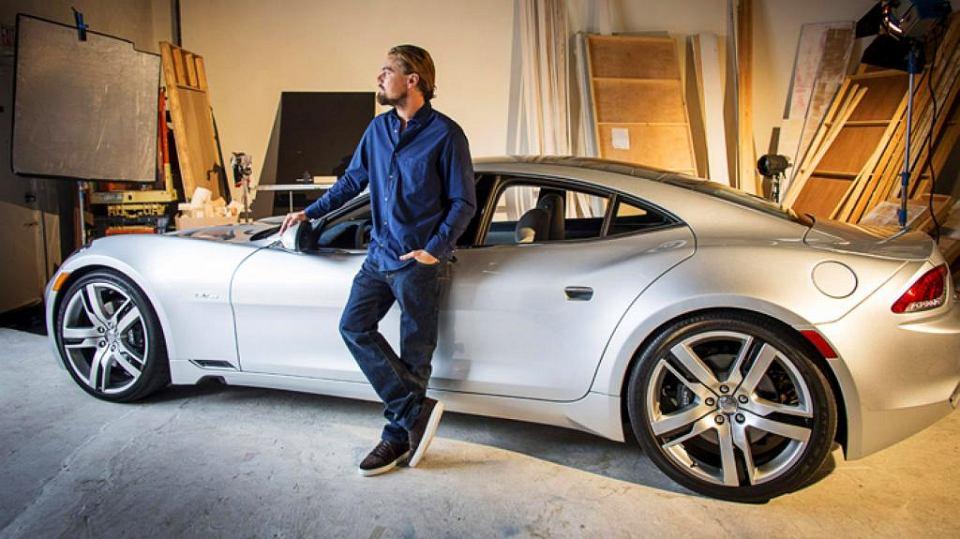 DiCaprio jeździł elektryczną limuzyną Fisker na długo przed tym, zanim cały świat zachwycił się Teslą